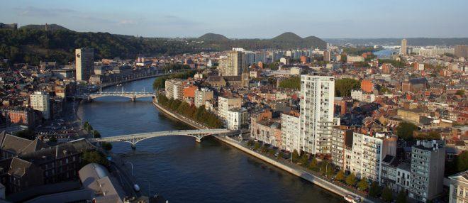 Liège et vue sur la Meuse