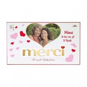 Merci chocoladegeschenk met foto