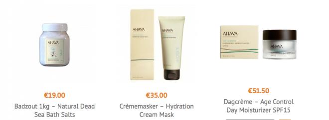 Ahava Dode Zee producten