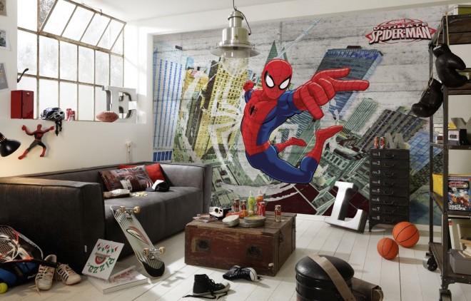Spiderman fotobehang verkrijgbaar bij Posters.be