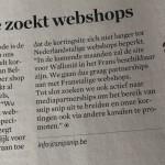 """""""Kortingsite zoekt webshops"""" in Trends Magazine - 08/10/15"""