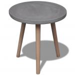 Rond tafeltje met betonnen tafelvlak bij vidaXL