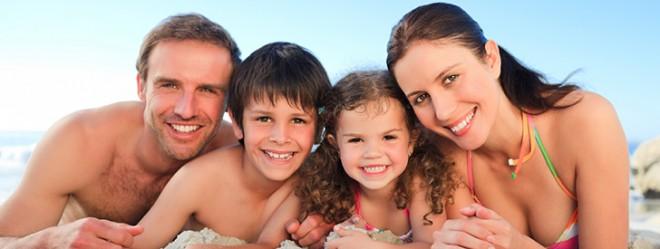 Zonnepret met het ganse gezin